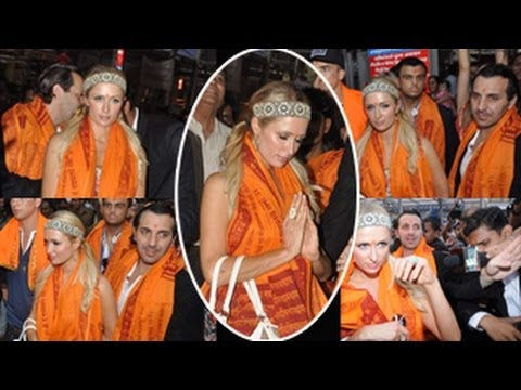 Paris Hilton VISITS Siddhivayak Temple