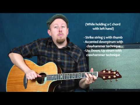 Acoustic fingerstyle guitar lesson Mumford & Sons inspired folk rock I Will Wait style make it yours