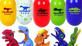 Dinosaur fruit was open in tree! Dino Mecard dino capsule eggs Spinosaurus, Dillopo! - DuDuPopTOY
