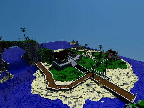 Райский остров в майнкрафт и обустройство его!
