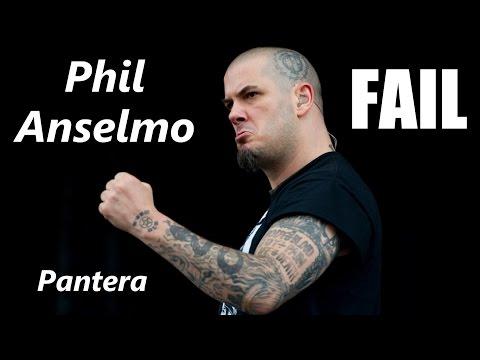 Pantera Phil Anselmo FAIL | RockStar FAIL