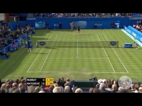 Andy Murray beats Marinko Matosevic in round three of the Aegon Championships at The Queen's Club