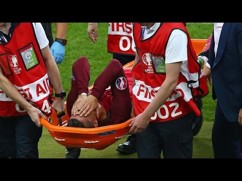 Cristiano Ronaldo Carried Off On A Stretcher During Euro 2016 Final, Portugal Still Wins