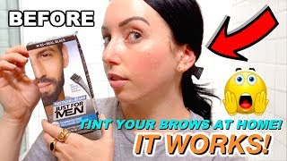 TINT YOUR EYEBROWS AT HOME FOR CHEAP! Easy Beauty Hack