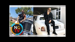 Talented Rapper, Phyno flaunts his white Rolls Royce (Photos)