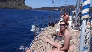 Sailing Cyclades Islands of GREECE with Empire Sailing. From Athens to Santorini!