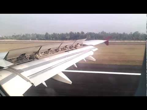 QATAR AIRWAYS landing in COCHIN INTERNATIONAL AIRPORT