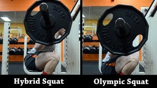 Hybrid Squat Tutorial (Hybrid vs Olympic Squat)