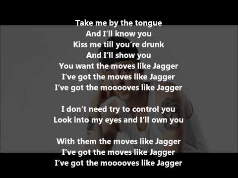 Moves Like Jagger(remix) Lyrics + Free Download Maroon 5 Ft. Mac Miller & Christina Aguilera video