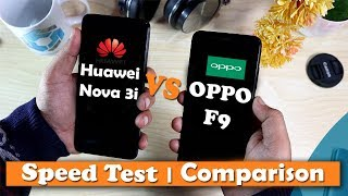 Huawei Nova 3i vs Oppo F9 Speed test | Comparison | Urdu | Hindi