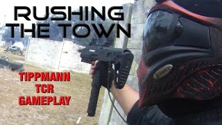 DIABLO - RUSHING THE TOWN - Tippmann Tcr Gameplay - Magfed Paintball