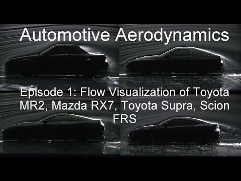 Automotive Aerodynamics Episode 1: Flow Visualizations of MR2. RX7. Supra. FRS