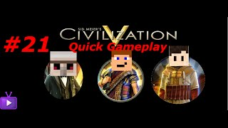 Civilization V Team Extreme Quick Gameplay #21- Low Memory