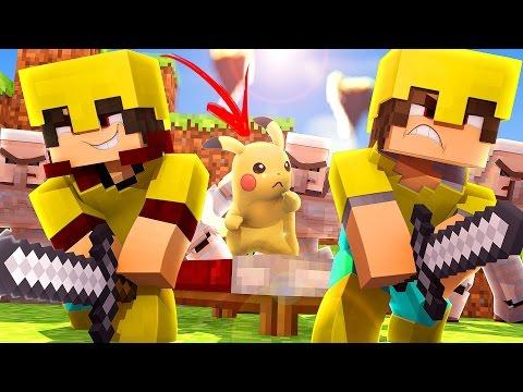 Minecraft: PROTEGEMOS A CAMA DO PIKACHU - BED WARS ? CaiqueVieira ?