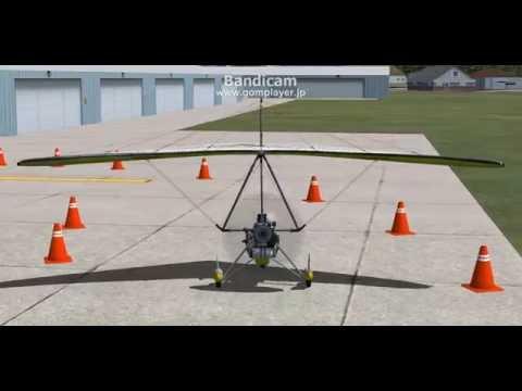 FSX TUTORIAL 04: 地上での操縦 ೨´・௰・`೨
