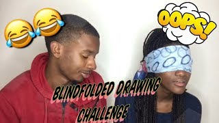 LMAOO!!! BLINDFOLDED DRAWING CHALLENGE  (TRY NOT TO LAUGH)
