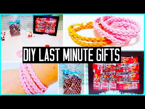 Diy Last Minute Christmas Gift Ideas! For Boyfriend, Parents, Bff... Easy & Cheap! video