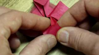 Folding The Habanero Origami Bonsai Flower