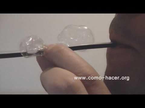 Experimentos y trucos caseros - Como hacer pompas de plastico