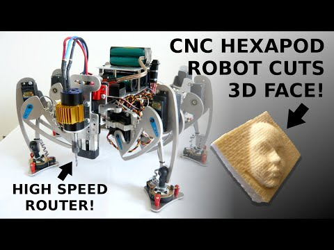 Hexapod Robot CNC Router - Cutting 3D face