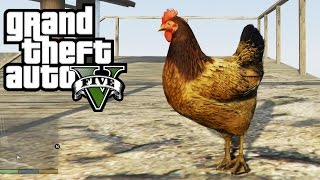 GTA 5 - Play as a CHICKEN / Other Birds - How To! (Peyote Location #1) [GTA V Xbox One Gameplay)