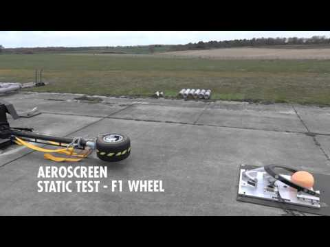 The Aeroscreen: Static Test - F1 Wheel @ 225kph