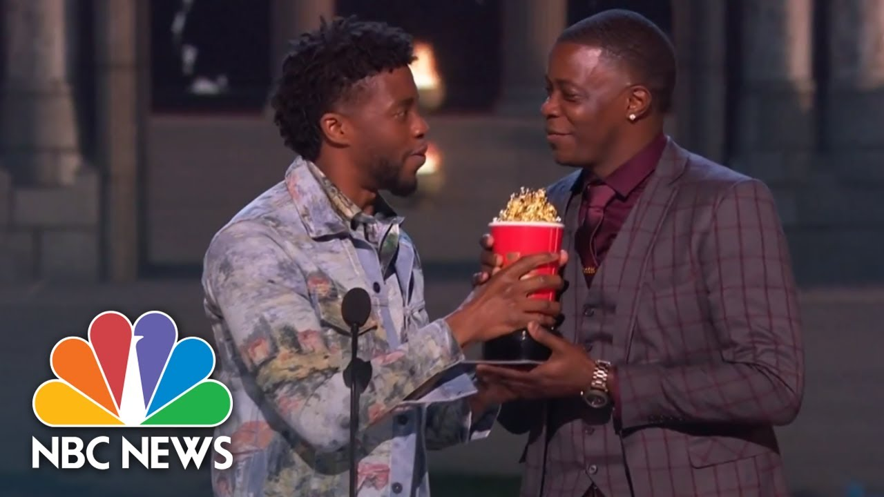 'Black Panther' Star Hands Over His MTV Award To James Shaw Jr. Waffle House Hero | NBC News