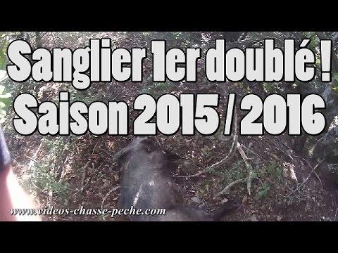 Doublé Sanglier (Premier Saison 2015 / 2016) - Drift HD Ghost S - video chasse au sanglier