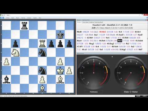 Houdini 3 x64 Vs. Stockfish 2.3.1 x64, LTC Chess Match Game 3 of 96