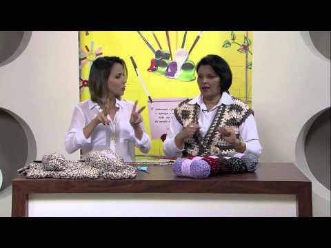 Mulher.com 13/05/2013 Noemi Fonseca - Crochê sem agulhas casaco  Parte 1/2