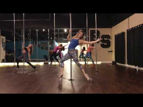 Rescue Me - Unions Beginner Pole Dance Routine 11-29-16