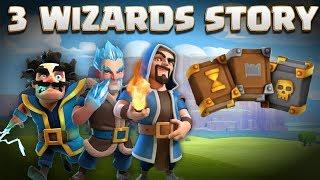 3 Wizards Story - Electro Wiz, Ice Wizard, Regular Wiz & Grand Warden Origin   Clash of Clans Story