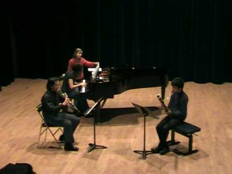 Poulenc�Trio pour hautbois , basson et piano �trio for oboe , bassoon and piano�Mov.2 & 3