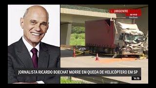 O momento do acidente do helicóptero com Ricardo Boechat!