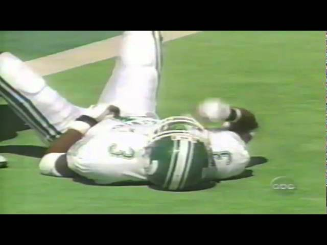 Oregon FB Chris Young 12 yard touchdown catch vs. Michigan State 9-08-98