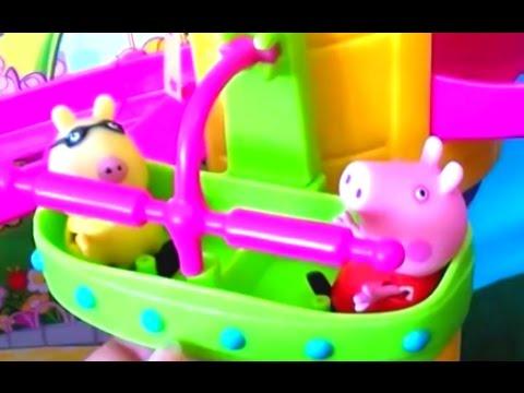 Мультфильм Свинка Pig Свинка Пепа  Веселые качели Атракционы