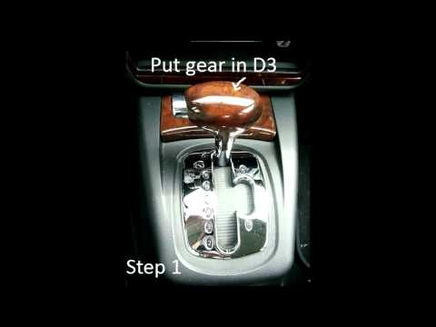 How to remove a Tiptronic Shift Knob from an Audi or Volkswagen