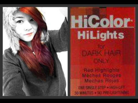 How to Dye Your Hair Red WITHOUT BLEACH!
