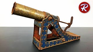 1910 Tin Toy Cannon Restoration