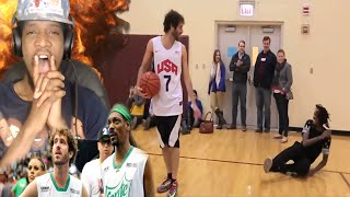 WTF HOW IS HE DOING THIS!?? LIL DICKY PLAYING BASKETBALL REACTION!