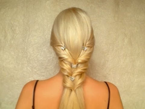 Valentine's Day, Prom, Wedding Hairstyle For Long Straight Hair Tutorial