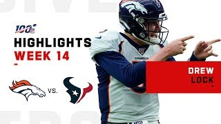Drew Lock Sends Texans Packing w/ 309 Yds & 3 TDs | NFL 2019 Highlights
