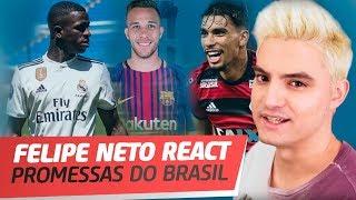PROMESSAS DO BRASIL PARA COPA 2022 | FELIPE NETO REACT #19