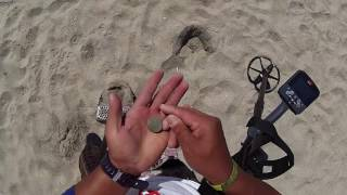 ifound GOLD in the WET SAND w CTX 3030 in the BEACH metal detecting