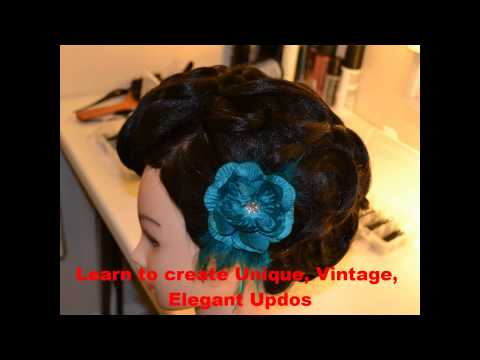 Vintage Updo Hairstyle-  Farah Syed  Asian Bridal Training Academy