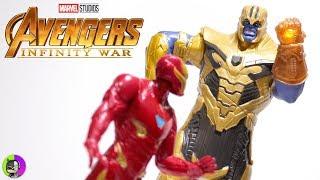 """IRON MAN vs. THANOS Battle Set"" Avengers Infinity War Figure Review | Hero Vision"