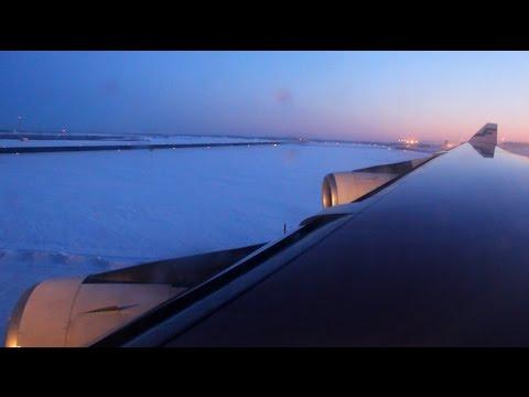 Finnair Airbus A340-300 take off from Helsinki-Vantaa Airport