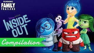 INSIDE OUT   All Clips and Trailer compilation for the Disney Pixar family movie