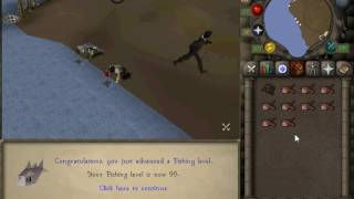 OSRS - 99 Fishing levelup