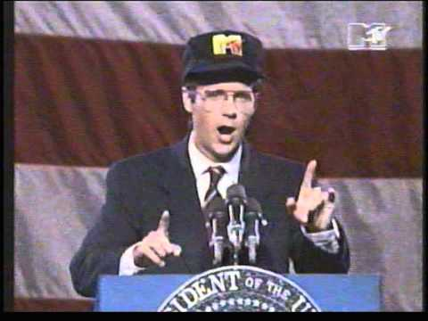 Dana Carvey imitates George Bush sr. at MTV video music awards